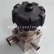 卫生级锻造式焊接三通隔膜阀