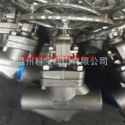 1寸 16.0MPa F316L J11W內螺紋鍛鋼截止閥