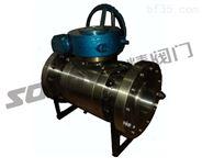 大口径球阀Q347F锻钢固定球阀高压球阀
