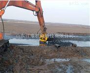 日立挖机河道清淤泵/水库淤泥治理泵